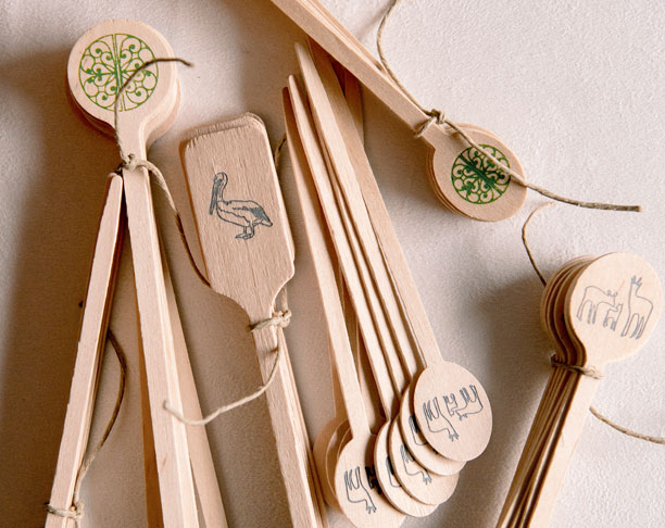 Lettered Olive Couture Ready To Order Wooden Wadmalaw Deer Stir Sticks